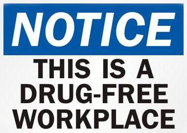 drug free workplace drug test